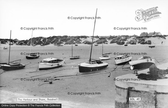 Photo of Beadnell, The Harbour And Shore c.1955