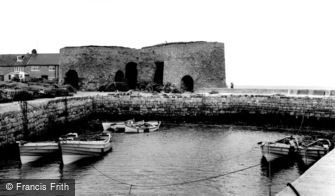 Beadnell, the Harbour c1960