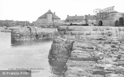 Beadnell, The Harbour Entrance c.1955