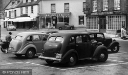 Beaminster, Cars In The Square c.1955