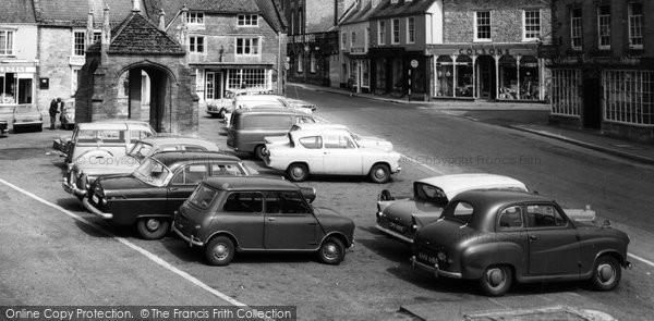 Beaminster, Parked Cars c.1965