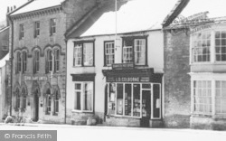 Beaminster, The Square, Banks And Post Office c.1955