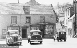 Beaminster, The Square, Chemist And Grocer's Shop c.1955