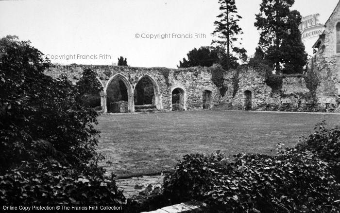 Photo of Beaulieu, Abbey Chapter House c.1950