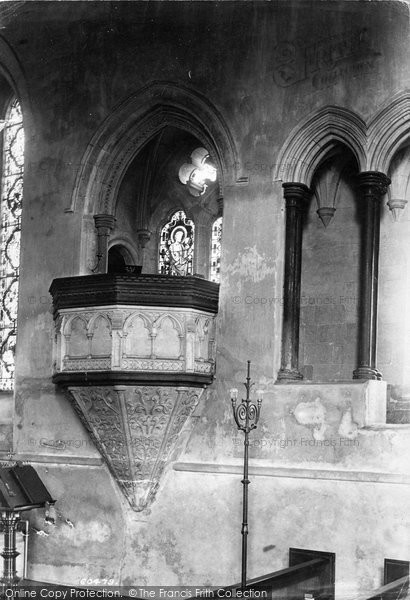 Beaulieu, The Abbey Church, Stone Pulpit 1908