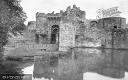 Beaumaris, Castle And Moat 1930