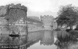Beaumaris, Castle And Moat 1933