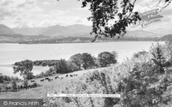 Beaumaris, Menai Straits And Mountains c.1960