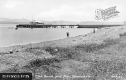 Beaumaris, The Beach And Pier c.1950