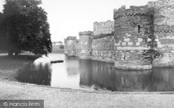 Beaumaris, The Castle Moat c.1960