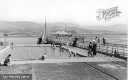 Beaumaris, The Paddling Pool And Pier c.1955