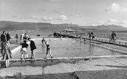 Beaumaris, the Paddling Pool and Pier c1960