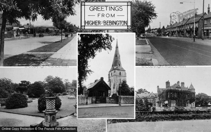Photo of Bebington, Composite c.1955