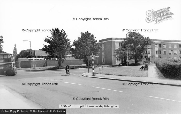 Photo of Bebington, Spital Cross Roads c.1965