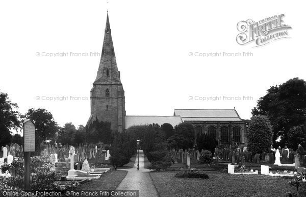 Photo of Bebington, St Andrew's Church 1936