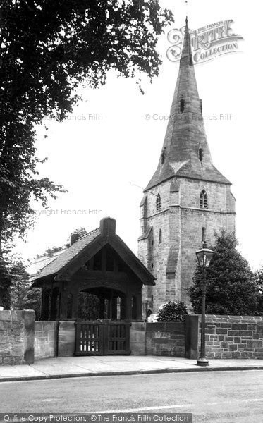 Photo of Bebington, St Andrew's Church and Lych Gate 1936