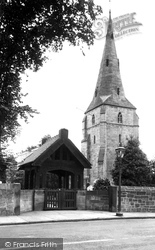 Bebington, St Andrew's Church And Lych Gate 1936