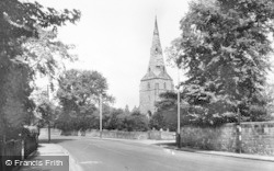 Bebington, St Andrew's Church c.1955