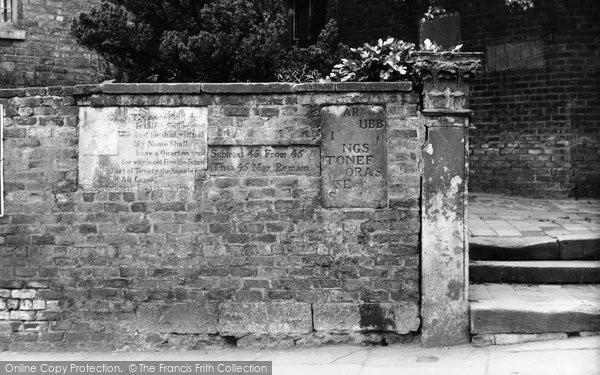 "Photo of Bebington, the ""Writing on the Wall"" 1936"