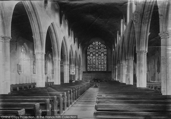 Beccles, Church Interior 1894
