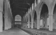 Beccles, Church Interior 1923