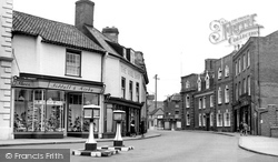 Beccles, Exchange Square c.1955
