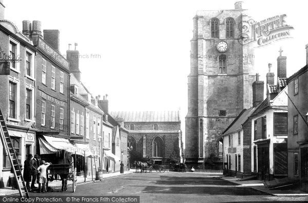 Beccles, Market Place And St Michael's Church 1894