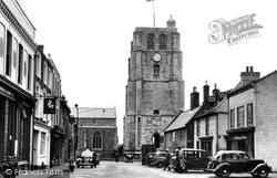 New Market And St Michael's Church 1950, Beccles