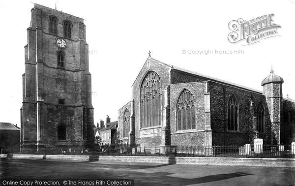 Beccles, St Michael's Church And Bell Tower From The North East 1894