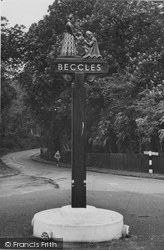 Beccles, The Town Sign c.1955