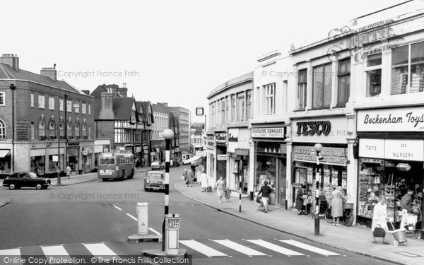 Photo of Beckenham, High Street c1965