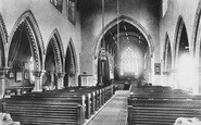 Bedale, Church Interior 1896