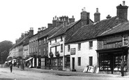 Bedale, Shops In The Street 1900