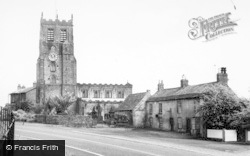 Bedale, The Church And Chantry House c.1960