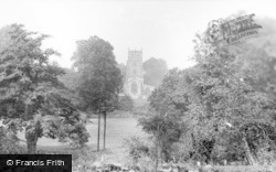 Bedale, The Church From Anglo c.1955