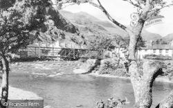 Beddgelert, Afon Glaslyn c.1960