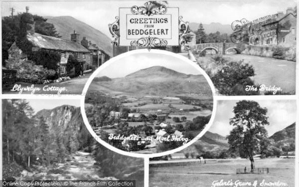 Photo of Beddgelert, Composite c.1930