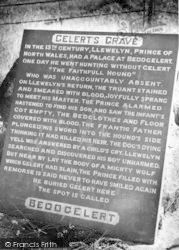 Beddgelert, Gelert's Grave c.1960