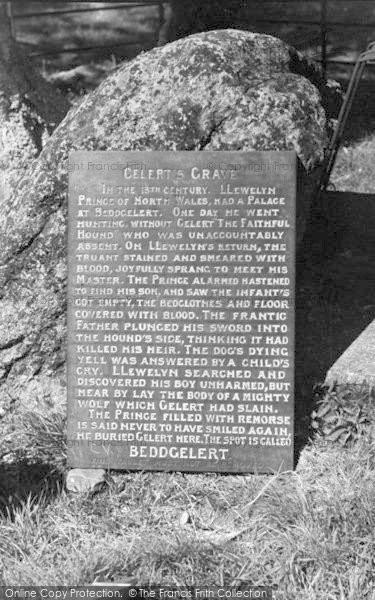 Photo of Beddgelert, Gelert's Tomb c.1950