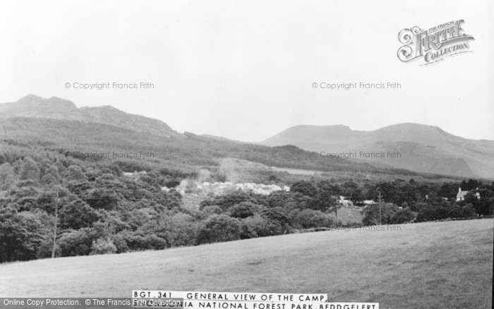 Photo of Beddgelert, General View Of Camp, Snowdonia National Forest Park c.1965