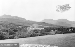 Beddgelert, General View Of Camp, Snowdonia National Forest Park c.1965