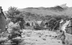 Beddgelert, Gwynant River And Church c.1955