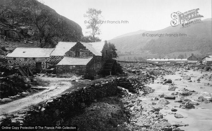 Beddgelert,Gwynant Valley Mill 1889,Gwynedd