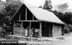 Beddgelert, Log Cabin, Snowdonia National Forest Park c.1965