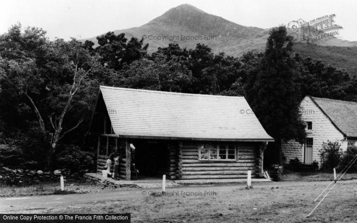 Photo of Beddgelert, Log Cabin, Snowdonia National Forest Park c.1965