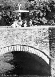 Beddgelert, People On The Bridge c.1960
