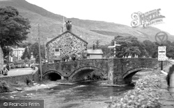 Beddgelert, River Colwyn c.1955