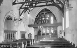 Beddgelert, St Mary's Church Interior 1931
