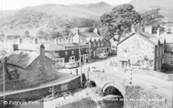 Beddgelert, Tanronen Hotel And Bridge c.1960
