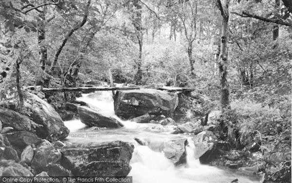 Photo of Beddgelert, The Bridge, Forest Park Camping Grounds c.1955